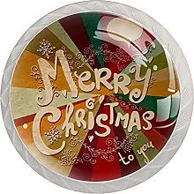 Merry Christmas ( 4 Pack Kitchen Knobs for