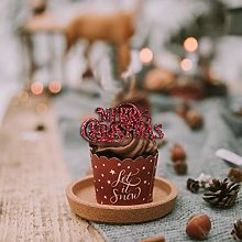 Merry Christmas Cake Cupcake Decorations Topper