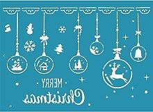 Merry Christmas DIY Self Adhesive Silk Screen