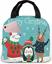 Merry Christmas Lunch Bag Insulated Tote Bag Lunch