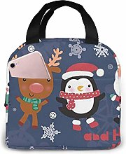 Merry Christmas Portable Lunch Bag Insulated