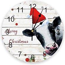 Merry Christmas PVC Wall Clock, Silent Non-Ticking