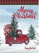 Merry Christmas Red Truck Welcome Small Garden