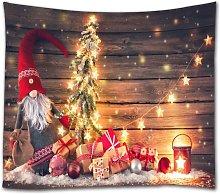 Merry Christmas Tapestry Wall Hanging Xmas Tree