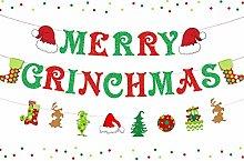 Merry Grinchmas Banner Grinch Christmas