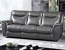 Merryn Contemporary 3 Seater Sofa In Grey Faux