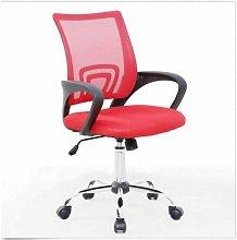 Mesh Back Swivel Padded Desk Chair (Red) - Evre