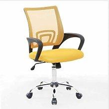 Mesh Back Swivel Padded Desk Chair (Yellow) - Evre