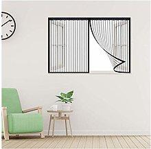 Mesh Curtain Door,Window Screen,115x130cm Magnetic