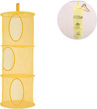 Mesh Hanging Storage Basket, Foldable Toy Network