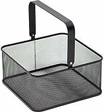Mesh Steel Storage Basket Wrought Iron Shopping