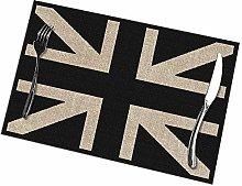 Mesllings Black And White Union Jack Print