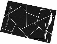 Mesllings Black White Geometric Glam Placemat