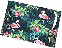 Mesllings Bright Flamingos Placemat Design,Heat