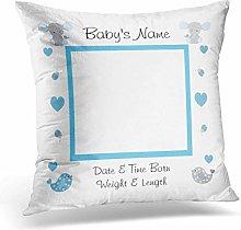Mesllings Custom Gray Grey Blue Elephant Baby Boy