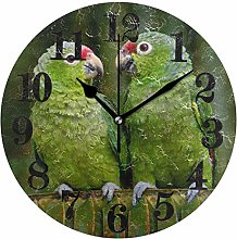 Mesllings Funny Parrot Bird Lover Round Wall Clock