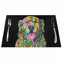 Mesllings Golden Retriever Placemats For Dining