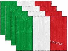 Mesllings Italian Flag Place Mats Heat-Resistant