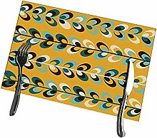 Mesllings Placemats for Dining Table Midcentury