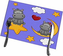 Mesllings Placemats for Dining Table Valentine