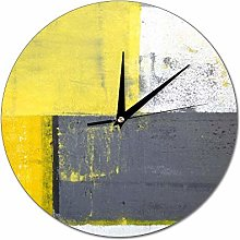 Mesllings Scale-free Wall Clocks Abstract Painting