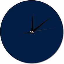 Mesllings Scale-free Wall Clocks Navy Round Wall