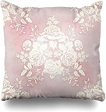 Mesllings Throw Pillow Covers Blossom Pink French