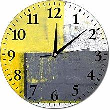 Mesllings Wall Clocks Abstract Painting Design