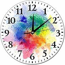 Mesllings Wall Clocks Powder Watercolor Splash