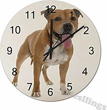 Mesllings Wall Clocks Staffordshire Bull Terrier