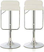 Mestler Modern Bar Stool In White Faux Leather In