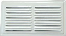 Metal Air Vent in White RAL 9016, White Metal