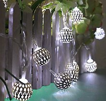 Metal Ball String Lights, 3M 20LED Moroccan String