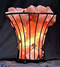 Metal Basket Himalayan Salt Lamp with Salt Chunks