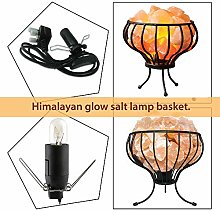 Metal Basket Pure Himalayan Crystal Rock Salt Lamp