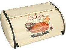 Metal Bread Box Retro Bin Cafe Kitchen Storage