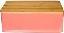 Metal Bread Storage Bin with Bamboo Cutting Board