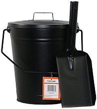 Metal Bucket with Lid & Fire Shovel by Inglenook