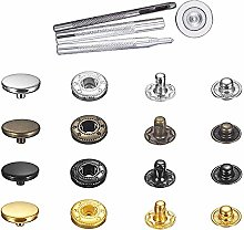 Metal Button Press Studs, Snap Buttons Kit for