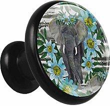 Metal Cabinet Door Knobs Elephant Flower Multi