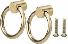 Metal Cabinet Handle, 2pcs Vintage Brass Jewelry