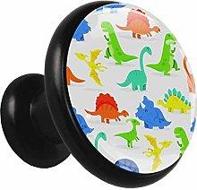 Metal Cabinet Knobs Pulls Color Dinosaur Round