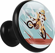 Metal Cabinet Knobs Pulls Cool Motorcycle Round