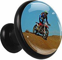 Metal Cabinet Knobs Pulls Desert Motorcycle Round
