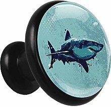 Metal Cabinet Knobs Pulls Shark Blue Illustration