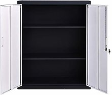 Metal Cabinet with 2 Lockable Doors and 4