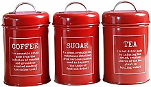 Metal Canisters Set Dry Food