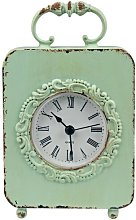 Metal Carriage Tabletop Clock Lily Manor Colour: