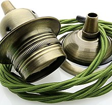 Metal Ceiling Pendant Kit incl. Antiqued Brass