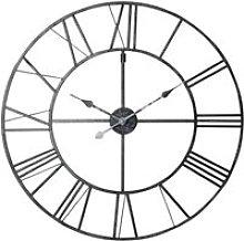 Metal Clock in Black D80